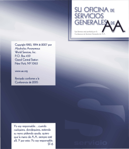 Su Oficina de Servicios Generales de AA
