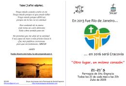 + Folleto Julio 2015 - Parroquia de Santa Engracia