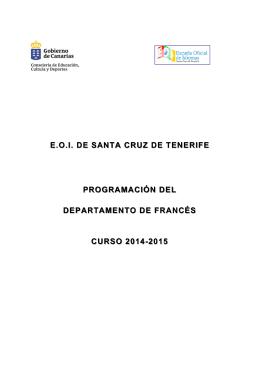 Programación Didáctica - EOI Santa Cruz de Tenerife