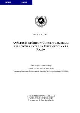 Análisis histórico y conceptual de las relaciones entre la