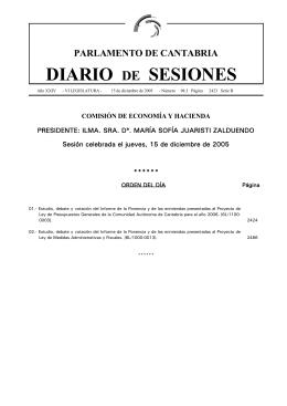 Sumario en PDF - Parlamento de Cantabria
