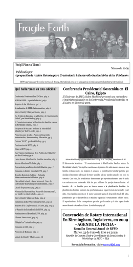 What`s in this Issue - Rotary Club Sant Pol