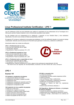 Linux Professional Institute Certification - LPIC 1