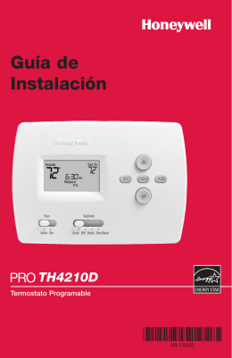 69-1763S - PRO TH4210D Programmable Thermostat