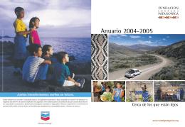 Anuario 2004-2005 - Fundación Cruzada Patagónica