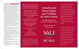 identificando Temas Legales para Víctimas de asalto Sexual