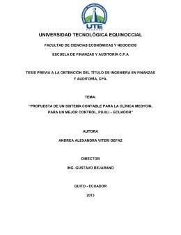UNIVERSIDAD TECNOLÓGICA EQUINOCCIAL
