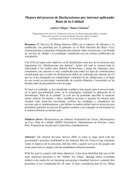 artículo cientifico mejoramiento del proceso de declaraciones por