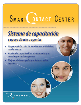 Folleto sobre sistema de apoyo a agentes SmartContact