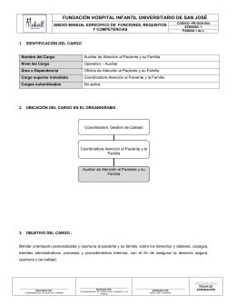Manual Funciones - Auxiliar de Atención al Paciente y su Familia
