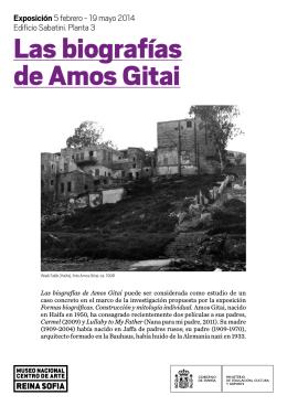 Folleto de Las biografías de Amos Gitai