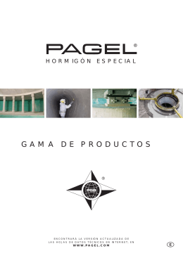 GAMA DE PRODUCTOS CD - Pagel Spezial