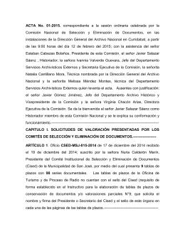 Acta No. 01 - Archivo Nacional de Costa Rica