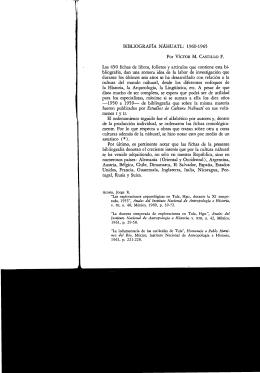 BIBLIOGRAFÍA NÁHUATL - Instituto de Investigaciones Históricas