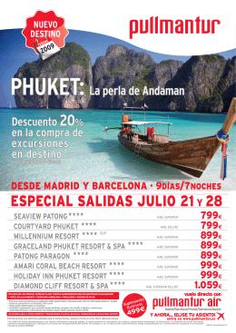 ESPECIAL SALIDAS JULIO 21Y 28