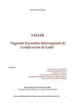 Documento - Sistema Nacional de Certificación de Leña