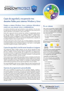 Ficha técnica de SPX