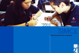 Folleto de Orientaciones Simce 2003 / II medio