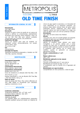 Ficha técnica OLD TIME FINISH