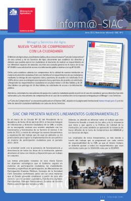 inform@-SIAC inform@-SIAC - Ministerio de Agricultura