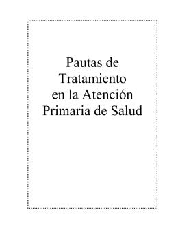 Pautas de Tratamiento en la APS.