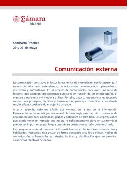 Folleto Comunicación externa