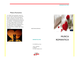 folleto musica romantica
