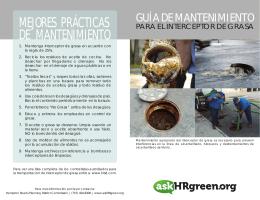 MEJORES PRÁCTICAS DE MANTENIMIENTO