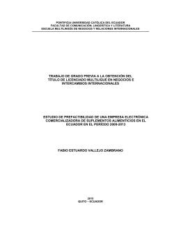 trabajo de grado previa a la obtención del título de licenciado