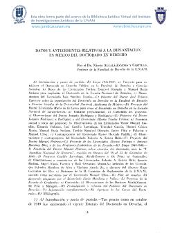 DATOS 1- AYTECEDENTES KELATIVOS A LA IhlPL4iSTACIOS EN