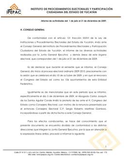 H. CONSEJO GENERAL De conformidad con el artículo 131