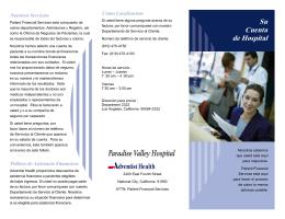 Su Cuenta de Hospital - Paradise Valley Hospital