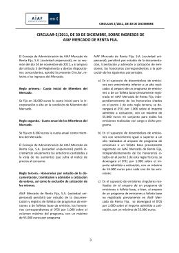circular-2/2011, de 30 de diciembre, sobre ingresos de