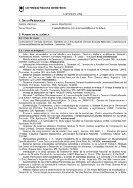 Informe LCVE Investigador - Facultad de Ciencias Exactas y