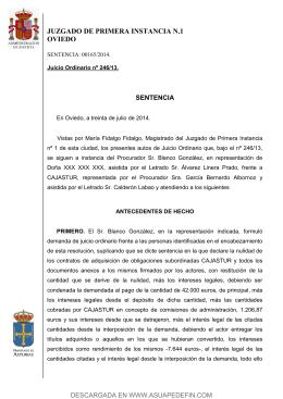 JUZGADO DE PRIMERA INSTANCIA N.1 OVIEDO