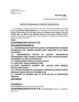03)varios 01)aprobacion acta nº 173