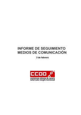 informe de seguimiento medios de comunicación