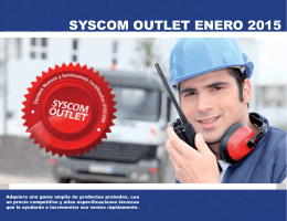 SYSCOM OUTLET ENERO 2015 YSC OM O UT LET EN SY
