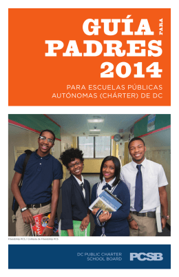GUÍA PA PADRES 2014 - District of Columbia Public Charter School