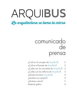 ArquiBus_comunicado de prensa