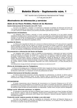 Boletín Diario – Suplemento núm. 1