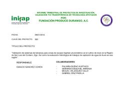 FUNDACIÓN PRODUCE DURANGO, A.C.