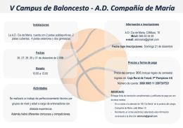 V Campus de Baloncesto - A.D. Compañía de María