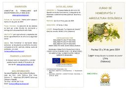 curso de homeopatía y agricultura ecológica