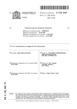COMPOSICIONES DE COLAGENO DE ALTA CONCENTRACION