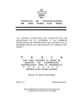 """Valdez, Brenda (2010) """"El Consejo Consultivo del Instituto de"""