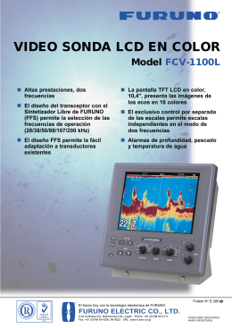 Model FCV-1100L VIDEO SONDA LCD EN COLOR