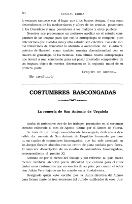 COSTUMBRES BASCONGADAS
