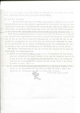 a la adulación de la cuota sindical obligatoria. com pañeros