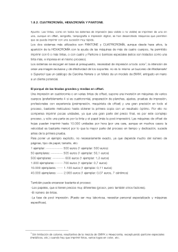 1.8.2. CUATRICROMÍA, HEXACROMÍA Y PANTONE
